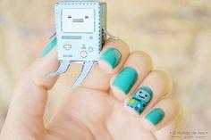 BMO nail art (Adventure Time)