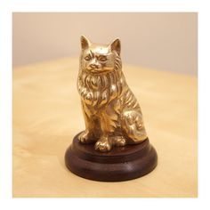 Solid Brass dog statue / Spitz   cute vintage dog by UKAmobile