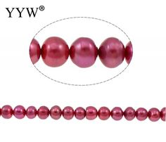 Button Cultured Freshwater Pearl Beads for making diy Jewelry purplish red, 10-11mm, Hole:Approx 0.8mm 14.5 Inch Strand
