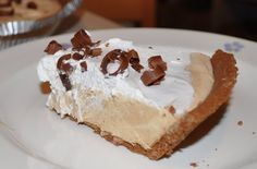 Chocolate PB pie! Delish.