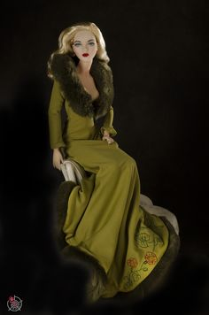 JS Gene Marshall ~ 'Phoenix' in Tonner outfit ~ Image and styling by George Gonzales ~ The Studio Commissary