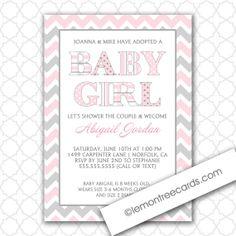 Adoption Girl Baby Shower Invitation