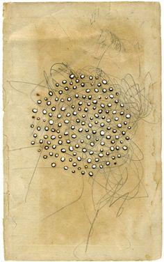 Olivia Jeffries - burn holes on found paper
