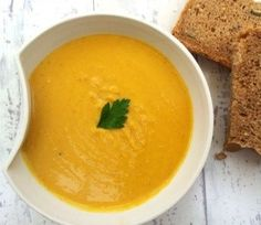 Red Lentils and Carrots Coconut Soup.