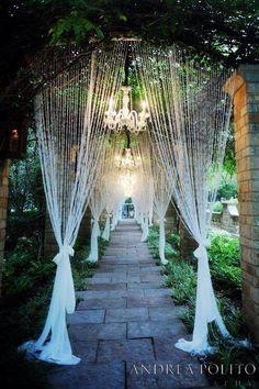 Stunning walkway or aisle