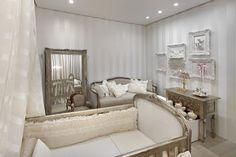 Quarto de bebê em branco e cru - Tons dourados - baby room