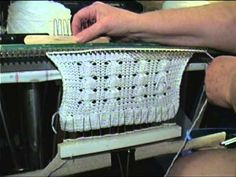 Cables stitched on sweater knitting machine