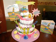 This Is A Diaper Cake I Just Made For My Cousins Friend! She Is Doing The  Babyu0027s Room In Dr.