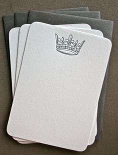 Letterpress Stationary - Invitation Ideas