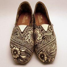 toms shoes henna/mehndi