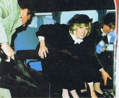 This rare picture of Princess Diana shows her aboard the Queen's Flight, preparing to fly to Coventry for a visit to Belgrave Lodge Home For Elderly on November 30th 1982.