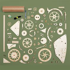 Wooden Mechanical Clock Kit