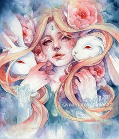 Margaret Morales is a visual designer, painter and watercolor artist from Philippines. Art And Illustration, Watercolor Illustration, Illustrations, Watercolor Artists, Watercolor Paintings, Watercolor Trees, Watercolor Portraits, Watercolor Landscape, Abstract Paintings