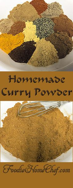 Homemade Curry Powder - is widely used in Indian cooking. Authentic is freshly ground each day & will vary dramatically depending on the region & the cook. This is my original curry powder recipe. Easy to make & tastes extremely better than the commercial Spice Blends, Spice Mixes, Homemade Curry Powder, Fun Cooking, Cooking Recipes, Beginner Cooking, Cooking Videos, Cooking Classes, Powder Recipe