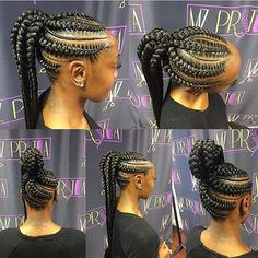 Hair Growth Tips. Hair Thinning Tips You Can Start Doing Today. Knowledge about hair thinning can help you learn what's happening and how you can manage it. Braided Ponytail Hairstyles, African Braids Hairstyles, Girl Hairstyles, Hairdos, 1950s Hairstyles, Updo, Big Braids, Girls Braids, Feed In Braids Ponytail