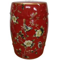 b962b4bf835e Ceramic Stool with Birds  ChineseAccessories  Shimu