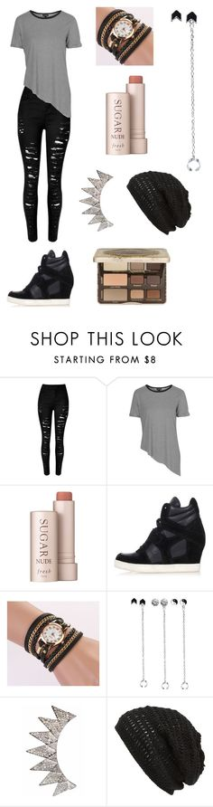 """""""Casual outfit"""" by xxbeautysparkxx ❤ liked on Polyvore featuring Topshop, Fresh, Ash, Wet Seal, King & Fifth Supply Co., Too Faced Cosmetics, women's clothing, women, female and woman"""