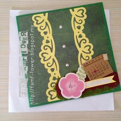 DIY Card. Handmade greeting card. Using deep border punch. Birthday card.