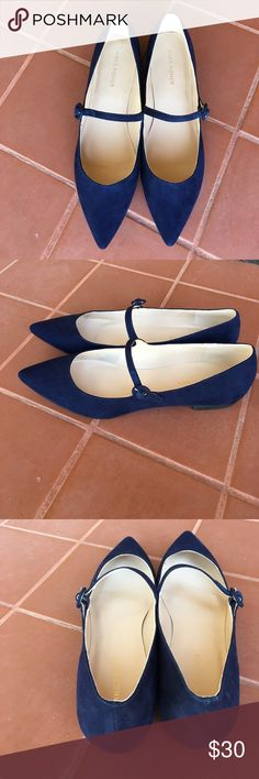 MARC FISHER FLATS Brighten up your feet with these Royal Blue flats complete with pointed toe and a delicate strap. Adjustable strap closure. NWOT size 8.5 Marc Jacobs Shoes Flats & Loafers