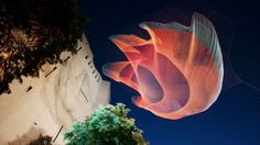 It's not a jellyfish or a mushroom cloud or some time-delayed warp-gate undulating in midair—or maybe it's some extra-dimensional combination of all three—it's a sculpture by artist Janet Echelman, who uses colorful nets to create beautiful and hypnotic topological shapes for public spaces. [Sploid]