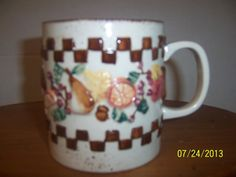 Fruit Coffee Mug Cup Fine Vintage by NAESBARGINBASEMENT on Etsy, $4.00