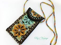 Embroidered Eye Glass Case//Cell Phone by PegsVintageJewellery, $7.00