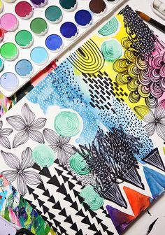 alisa burke sketchbook - idea for art journalism journalism # . - alisa burke sketchbook – idea for art journalism … – # - Art Journal Pages, Art Journaling, Kunstjournal Inspiration, Art Journal Inspiration, Painting Inspiration, Zentangle, Art Inspo, Alisa Burke, Posca Art