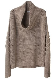 See this and similar Helmut Lang sweaters - Cowl Neck Pullover by Helmut Lang. Chunky, pullover sweater with u-shaped cowl neck & piped seam detail around sleev. Handgestrickte Pullover, Vetements Clothing, Modelos Fashion, Helmut Lang, Sweater Weather, Passion For Fashion, Autumn Winter Fashion, Style Me, Ideias Fashion