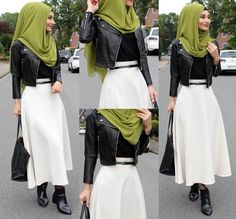 33 ideas for skirt white hijab Hijab Fashion Summer, Modest Fashion Hijab, Muslim Fashion, Modest Outfits, Women's Fashion Dresses, Modest Clothing, Women's Clothing, Hijab Outfit, Hijab Dress