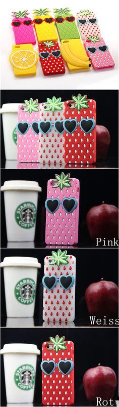Victoria's Secret Pink 2014 Sommer Frucht Erdbeere Handyhülle Silikon Case für Iphone 4/4S/5/5S - Prima-Module.Com (Cool Tech Diy)