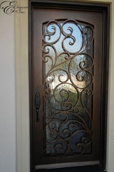 single wrought iron entry door images - Google Search