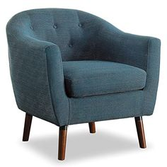Homelegance Lucille Fabric Upholstered Pub Barrel Chair, Blue - Does exactly what I need at the best price around.This Homelegance that is ranked 21790 in the A White Accent Chair, Tufted Accent Chair, Upholstered Chairs, Blue Accent Chairs, Accent Chairs For Living Room, Living Room Furniture, Blue Furniture, Entryway Furniture, Sofa Furniture