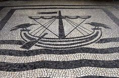 Lisbon, Portugal - Calçada Portuguesa Cate and the City