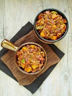 Veggie Black Bean & Lentil Chili with Stout