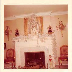 Photograph Snapshot Vintage Color Fireplace Christmas Decor 1970'S | eBay