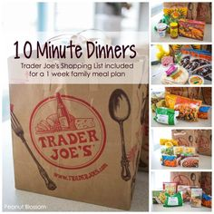 Trader Joe's meals: the best busy night dinners in a hurry! Best frozen food at Trader Joe's: 5 dinners for busy weeksBest frozen food at Trader Joe's: 5 dinners for busy weeks Family Meal Planning, Planning Budget, Menu Planning, Family Meals, One Week Meal Plan, Meals For The Week, Trader Joes Food, Trader Joe's, Trader Joe Meals