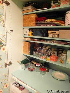 Askartelukaappi - Hobby room - Cabinet - Organizing - Säilytys - Kopallinen inspiraatiota - Kaappi - Järjestys
