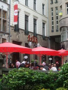 Great food and beer at Fruh in Koln, Germany