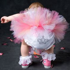 Rhinestone Crown Bloomers from PoshTots....seriously bloomers w converse omg too cute