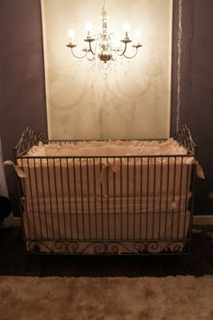 love the pewter scroll crib!