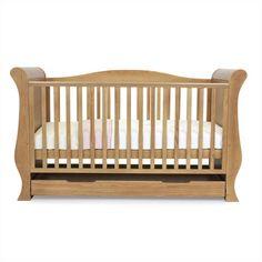 Babystyle Hollie Sleigh Cot Bed Honey Oak Kiddicare.com