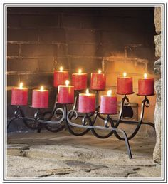 Candle Holders for Fireplace Hearth | Fireplace | Pinterest ...