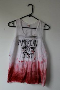 American Horror Story shirt.. ME AND MY SISTER LOVE THIS SHOW!!! I could make this!