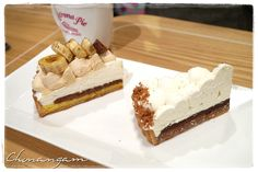 banana crunch tart & earl grey chocolat tart @ Retrona Pie. I passed by this place when I was in Samchungdong ... unfortunately, after devouring good meals & korean traditional desserts.