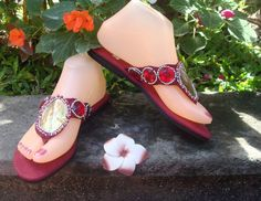 Red Casual Sandals Girls