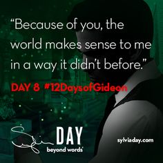 On the eighth day of Gideon my lover said to me…#12DaysofGideon
