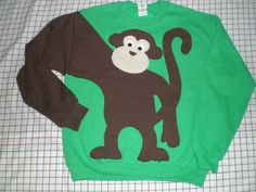Hey, I found this really awesome Etsy listing at https://www.etsy.com/listing/152740734/monkey-sweatshirtmonkey-sweater-monkey