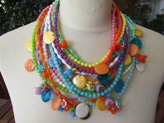 COLLANA MAXI Collier Necklace Designer Bigiotteria Costume Bijoux Italy Vintage di MarthaBijouxRoma su Etsy