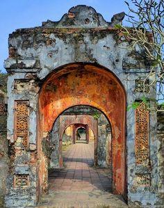 Through the battered archways. Hue, Vietnam.