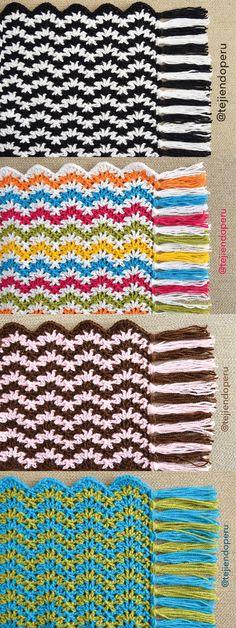 #Crochet: wavy V stitch afghan! #blanket Video tutorial                                                                                                                                                      Más
